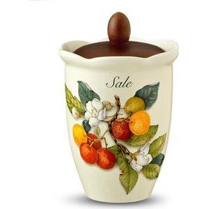 Банка для сыпучих продуктов (соль) Nuova Cer Итальянские фрукты (NC7370_1-CEM-AL) столовая посуда nuova cer чайник итальянские фрукты nc7360 cem al