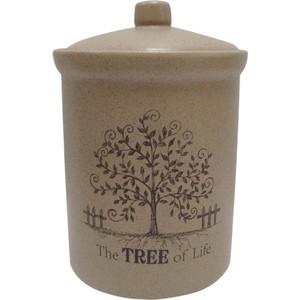 Банка для сыпучих продуктов (большая) Terracotta Дерево жизни (TLY301-2-TL-AL)