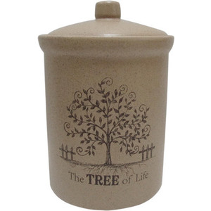 Банка для сыпучих продуктов (средняя) Terracotta Дерево жизни (TLY301-3-TL-AL)
