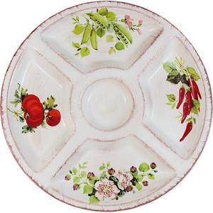 Менажница круглая LCS Овощное ассорти (LCS092-VE-AL)