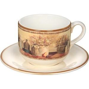 Чашка с блюдцем LCS Натюрморт (LCS933_T_PV-AL) масленка с крышкой lcs натюрморт lcs874bv al