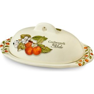 Масленка с крышкой Nuova Cer Итальянские фрукты (NC7378-CEM-AL)