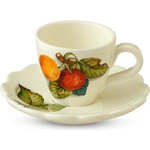 Чашка с блюдцем Nuova Cer Итальянские фрукты (NC7417-CEM-AL) подставка для зубочисток nuova cer итальянские фрукты nc7407 cem al