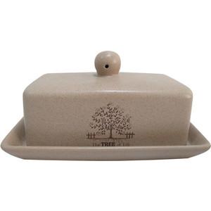 Масленка с крышкой Terracotta Дерево жизни (TLY288-TL-AL) тарелка обеденная terracotta дерево жизни диаметр 26 см