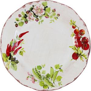 Тарелка обеденная LCS Овощное ассорти (LCS1355-VE-AL)