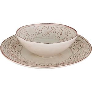 Набор из 2 тарелок суповая и обеденная LCS Медичи (LCS253-ME-AL)