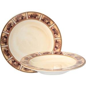 Набор из 2 тарелок суповая и обеденная LCS Натюрморт (LCS353V-AL) набор тарелок натюрморт 2 шт