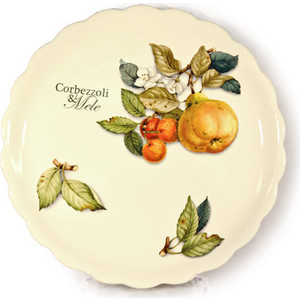 Тарелка обеденная Nuova Cer Итальянские фрукты (NC7410_2_1-CEM-AL) подставка для зубочисток nuova cer итальянские фрукты nc7407 cem al