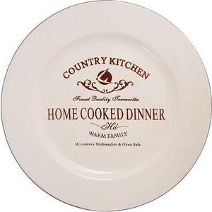 Тарелка обеденная Terracotta Кухня в стиле Кантри (TLY802-1-CK-AL)