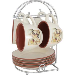 Чайный набор из 9 предметов на 4 персоны Terracotta Шеф-повар (TLY314-CHEF-AL)