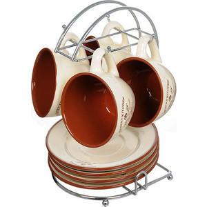 Чайный набор из 9 предметов на 4 персоны Terracotta Кухня в стиле Кантри (TLY314-CK-AL) чашка с блюдцем terracotta дерево жизни tly314s2 tl al