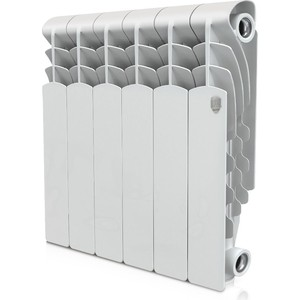 Радиатор отопления ROYAL Thermo алюминиевый Revolution 350/6 секций алюминиевый радиатор sira rovall80 350 6 секций