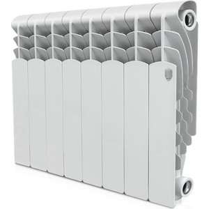 Радиатор отопления ROYAL Thermo алюминиевый Revolution 350/8 секций радиатор отопления royal thermo алюминиевый revolution 500 8 секций