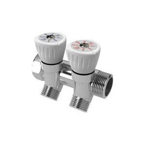 Коллектор ROYAL Thermo с регулировочными вентилями 3/4''x1/2'' 2 выхода (RTO 62002)