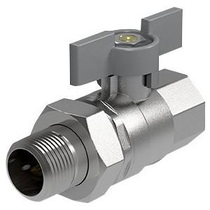 Кран ROYAL Thermo шаровый Expert 3/4 НР/ВР с разъемным соединением (RTE02014) royal thermo axio press прямое с наружной резьбой 40x1 1 4 rte 40 003