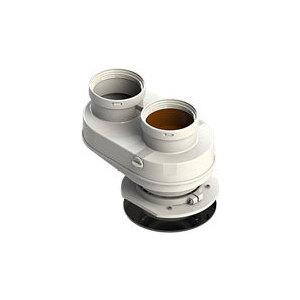 Адаптер ROYAL Thermo разделительный моноблочный d80 (Pr) (АБС-Пластик)