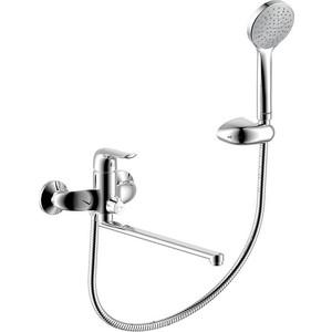 Смеситель для ванны/душа Damixa RedBlu Palace Evo с универсальным изливом 350 мм, ручным душем (429500000) смеситель с душем недорого купить