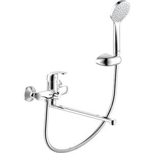 Смеситель для ванны/душа Damixa Palace One с универсальным изливом 350 мм, ручным душем (419500000)  смеситель для ванны душа damixa palace one