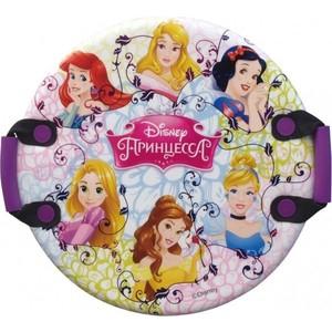 Ледянка Disney Принцессы, 54см, круглая с плотными ручками (Т58175) ледянка 54см круглая с плотными ручками человек паук