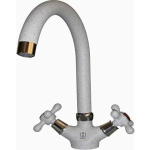 Смеситель для кухни HARTE вентильный серый (Л 5022-310) смеситель для кухни harte однорычажный белый л 4204 331