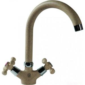 Смеситель для кухни HARTE вентильный бежевый (Л 5022-328) смеситель для кухни harte однорычажный белый л 4204 331