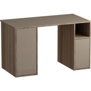 Письменный стол MetalDesign Кварт MD 764.04.04 корпус-ясень темный/ стекло-ясень шимо