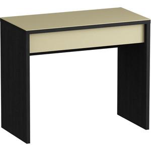 Письменный стол MetalDesign Кварт MD 771.01.10 корпус-черный/ стекло-крем md flatform tv 12 черный дымчатое стекло