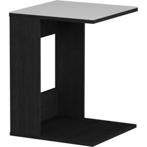 Журнальный стол MetalDesign Смарт MD 731.01.11 корпус-черный/ стекло-белый