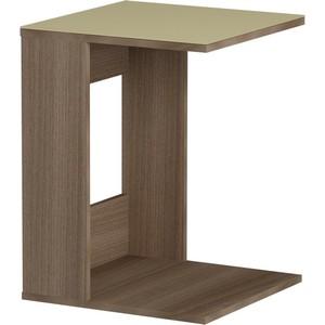 Журнальный стол MetalDesign Смарт MD 731.04.10 корпус-ясень темный/ стекло-крем