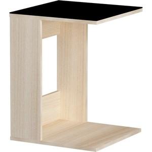 Журнальный стол MetalDesign Смарт MD 731.05.01 корпус-ясень светлый/ стекло-черный