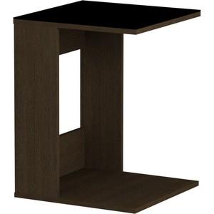 Журнальный стол MetalDesign Смарт MD 731.02.01 корпус-венге/ стекло-черный