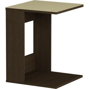 Журнальный стол MetalDesign Смарт MD 731.02.10 корпус-венге/ стекло-крем