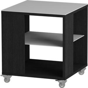 Журнальный стол MetalDesign Смарт MD 732.01.11 корпус-черный/ стекло-белый