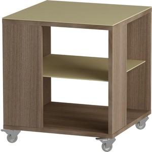 Журнальный стол MetalDesign Смарт MD 732.04.10 корпус-ясень темный/ стекло-крем цена