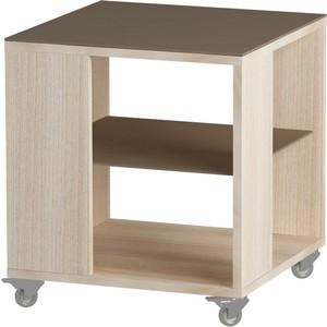 Журнальный стол MetalDesign Смарт MD 732.05.04 корпус-ясень светлый/ стекло-ясень шимо стол обеденный rinner прямая ясень шимо светлый