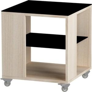 все цены на Журнальный стол MetalDesign Смарт MD 732.05.01 корпус-ясень светлый/ стекло-черный онлайн