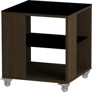 Журнальный стол MetalDesign Смарт MD 732.02.01 корпус-венге/ стекло-черный