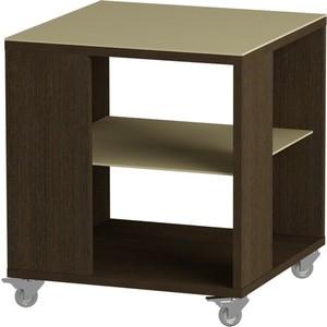 Журнальный стол MetalDesign Смарт MD 732.02.10 корпус-венге/ стекло-крем