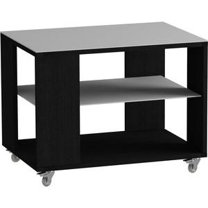 Журнальный стол MetalDesign Смарт MD 733.01.11 корпус-черный/ стекло-белый