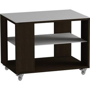 Журнальный стол MetalDesign Смарт MD 733.02.11 корпус-венге/ стекло-белый