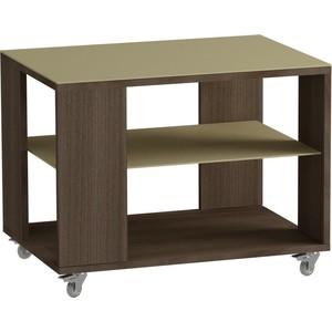 Журнальный стол MetalDesign Смарт MD 733.04.10 корпус-ясень темный/ стекло-крем