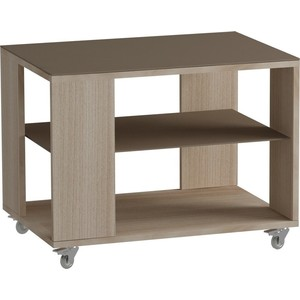 Журнальный стол MetalDesign Смарт MD 733.05.04 корпус-ясень светлый/ стекло-ясень шимо стол обеденный rinner прямая ясень шимо светлый