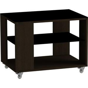 Журнальный стол MetalDesign Смарт MD 733.02.01 корпус-венге/ стекло-черный
