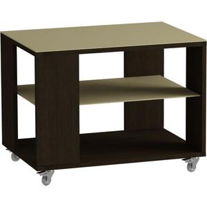 Журнальный стол MetalDesign Смарт MD 733.02.10 корпус-венге/ стекло-крем раздвижной большой стеклянный обеденный стол кубика нагано 2 стекло стекло темно коричневое венге
