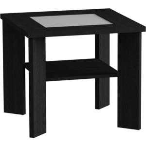 Журнальный стол MetalDesign Смарт MD 735.01.11 корпус-черный/ стекло-белый