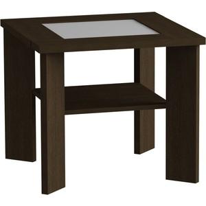 Журнальный стол MetalDesign Смарт MD 735.02.11 корпус-венге/ стекло-белый