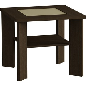 Журнальный стол MetalDesign Смарт MD 735.02.10 корпус-венге/ стекло-крем