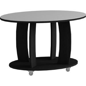 Журнальный стол MetalDesign Смарт MD 738.01.11 корпус-черный/ стекло-белый