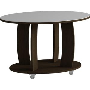 Журнальный стол MetalDesign Смарт MD 738.02.11корпус-венге/ стекло-белый