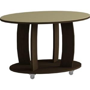 Журнальный стол MetalDesign Смарт MD 738.02.10 корпус-венге/ стекло-крем